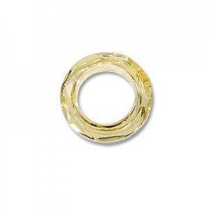 20mm Crystal Golden Shadow Austrian MC Cosmic Ring 2 Pcs