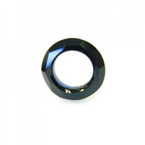 14mm Jet Austrian MC Cosmic Ring 6 Pcs