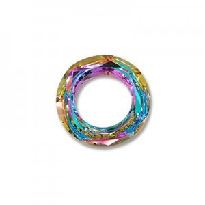 20mm Vitrail Light Austrian MC Cosmic Ring 2 Pcs