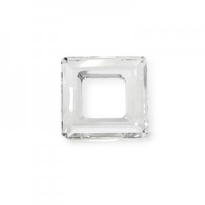 20mm Crystal Austrian MC Open Square Component 2 Pcs