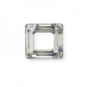 20mm Crystal Cal Austrian MC Open Square Component 2 Pcs