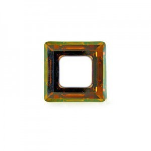 14mm Crystal Copper Austrian MC Open Square Component 6 Pcs