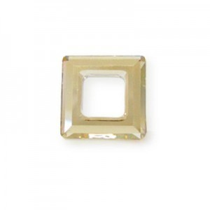 14mm Crystal Golden Shadow Austrian MC Open Square Component 6 Pcs