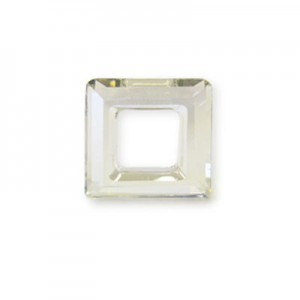 20mm Crystal Silver Shade Austrian MC Open Square Component 2 Pcs