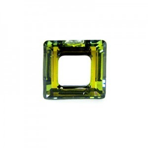 14mm Crystal Sahara Austrian MC Open Square Component 6 Pcs