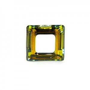 20mm Crystal Tabac Austrian MC Open Square Component 2 Pcs