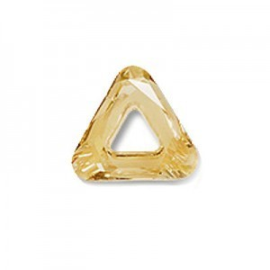 14mm Crystal Golden Shadow Austrian MC Open Triangle Component 6 Pcs