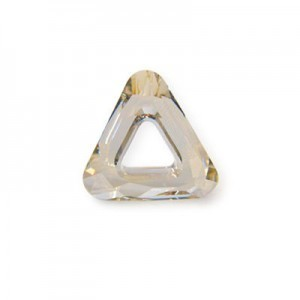 14mm Crystal Silver Shade Austrian MC Open Triangle Component 6 Pcs