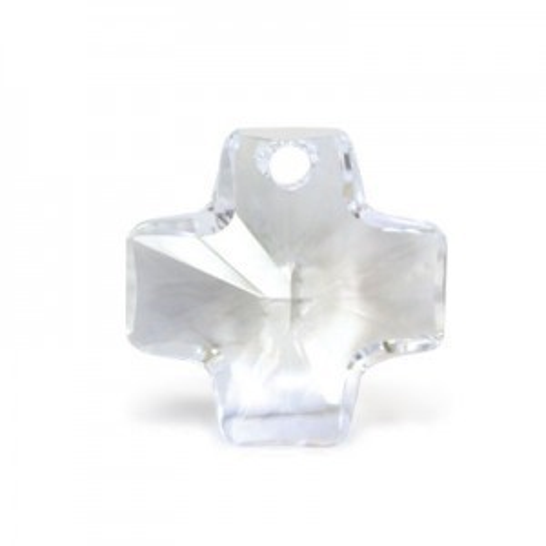 20mm Crystal Swarovski® Cross Pendant 1pc X 12
