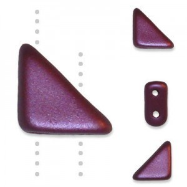 Tango™ Bead 2-Hole 6mm Pastel Burgundy - 50 Gram Bag (Apx 325 Pcs)