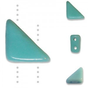 Tango™ Czech Glass Beads 2-Hole 6mm Turquoise - 50 Gram Bag (Apx 325 Pcs)