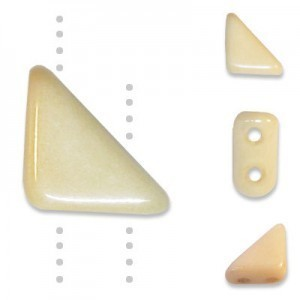Tango™ Bead 2-Hole 6mm Chalk Champagne - 50 Gram Bag (Apx 325 Pcs)