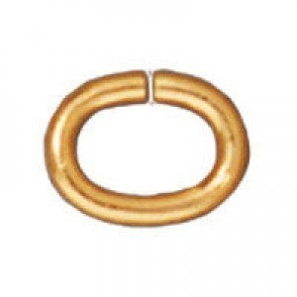 Jump Ring Med. Oval Gp - Pkg of 500 TierraCast® Findings