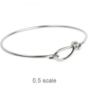 Wire Bracelet 12ga Silver Plated Brass - Pkg of 5 TierraCast®