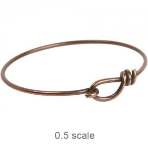 Wire Bracelet 12ga Antiqued Solid Copper - Pkg of 5 TierraCast®