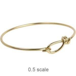 Wire Bracelet 12ga Bright Brass - Pkg of 5 TierraCast®