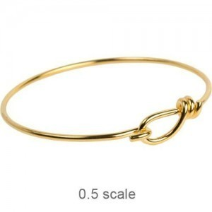 Wire Bracelet 12ga Gold Plated Brass - Pkg of 5 TierraCast®