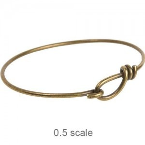 Wire Bracelet 12ga Oxidized Brass - Pkg of 5 TierraCast®