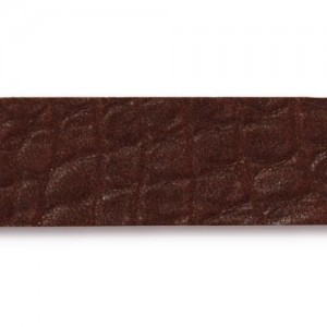 Cognac Hornback Leather Strap 0.5x10 Inch