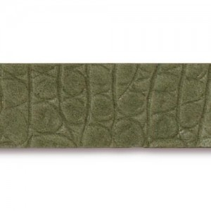Olive Hornback Leather Strap 0.5x10 Inch