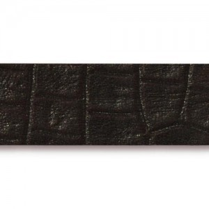Black Hornback Leather Strap 0.5x10 Inch