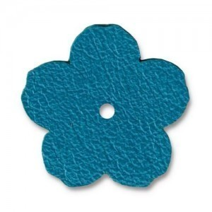 Leather 1 Inch Flower Turquoise - Pkg of 20 TierraCast® Brand