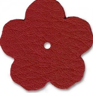 Leather 1.25 Inch Flower Red - Pkg of 10 TierraCast® Brand