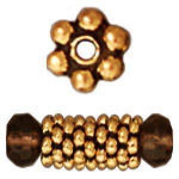 Bead 3mm Beaded Heishi Antique Gold - Pkg of 500 TierraCast® Britannia Pewter