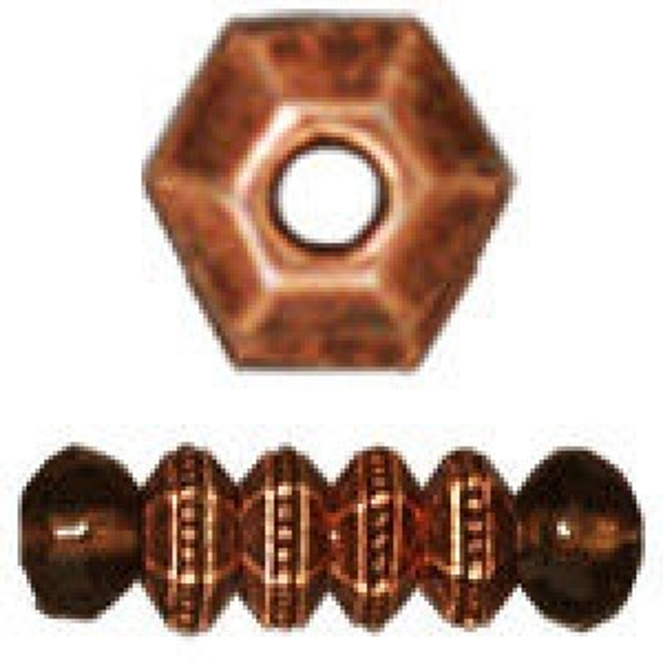 Bead 3mm Faceted Antique Copper - Pkg of 500 TierraCast® Britannia Pewter