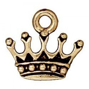 Drop King's Crown Antique Gold - Pkg of 20 TierraCast® Britannia Pewter