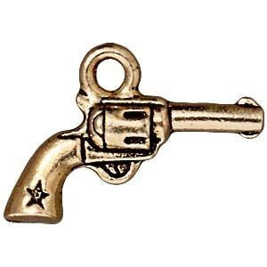 Drop Six Shooter Antique Gold - Pkg of 20 TierraCast® Britannia Pewter