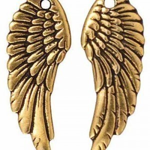 28x11mm Drop Wing Antique Gold - Pkg of 20 TierraCast® Britannia Pewter