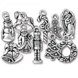 Christmas Collection Mix Antique Silver - Pkg of 100 TierraCast® Britannia Pewter