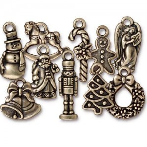 Christmas Collection Mix Brass Oxide - Pkg of 100 TierraCast® Britannia Pewter