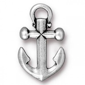 27x18mm Anchor Antique Silver - Pkg of 10 TierraCast® Britannia Pewter