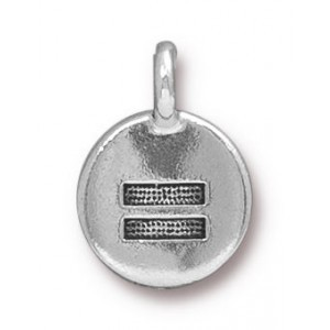 Charm Equality Antique Silver - Pkg of 20 TierraCast® Britannia Pewter