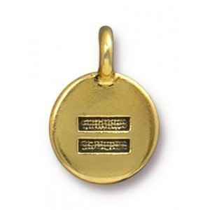 Charm Equality Antique Gold - Pkg of 20 TierraCast® Britannia Pewter