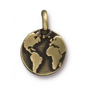 Charm Earth Brass Oxide - Pkg of 20 TierraCast® Britannia Pewter