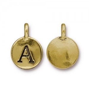 Letter A Charm - Pkg of 10 TierraCast® Bright Gold