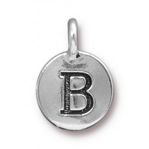 Charm B Antique Silver - Pkg of 20 TierraCast® Britannia Pewter