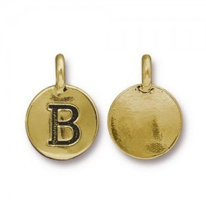 Letter B Charm - Pkg of 20 TierraCast® Bright Gold