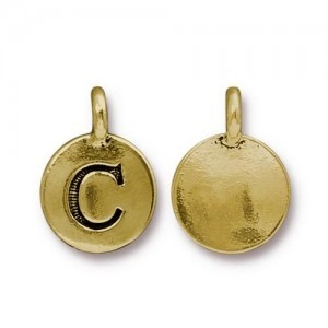 Letter C Charm - Pkg of 10 TierraCast® Bright Gold