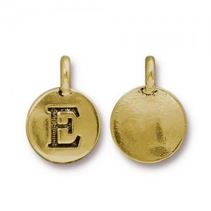 Letter E Charm - Pkg of 10 TierraCast® Bright Gold