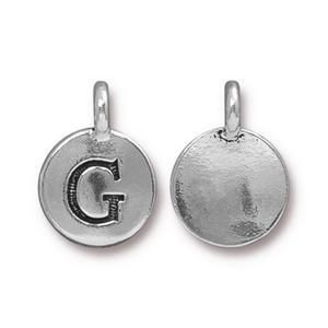 Charm G Antique Silver - Pkg of 20 TierraCast® Britannia Pewter