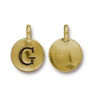 Letter G Charm - Pkg of 20 TierraCast® Bright Gold