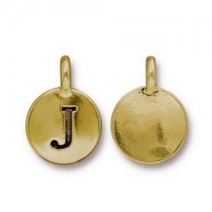 Letter J Charm - Pkg of 10 TierraCast® Bright Gold