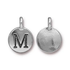 Charm M Antique Silver - Pkg of 20 TierraCast® Britannia Pewter