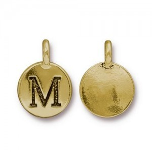 Letter M Charm - Pkg of 20 TierraCast® Bright Gold