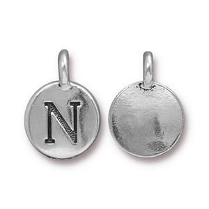 Charm N Antique Silver - Pkg of 10 TierraCast® Britannia Pewter