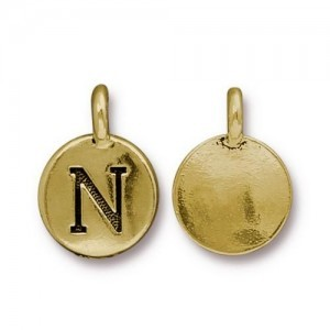Letter N Charm - Pkg of 10 TierraCast® Bright Gold